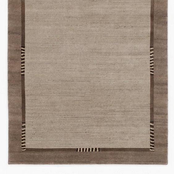 OCI DIE TEPPICHMARKE Orientteppich Jowea Emotion, rechteckig, 9 mm Höhe, reine Wolle, handgeknüpft, Wohnzimmer B/L: 90 cm x 160 cm, 1 St. grau Esszimmerteppiche Teppiche nach Räumen