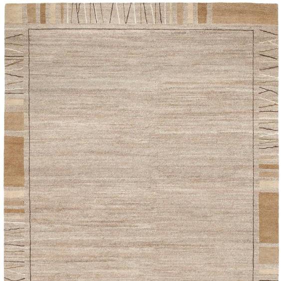 OCI DIE TEPPICHMARKE Orientteppich Sensation Rekhi, rechteckig, 6 mm Höhe, handgeknüpft, Wohnzimmer B/L: 170 cm x 240 cm, 1 St. beige Esszimmerteppiche Teppiche nach Räumen