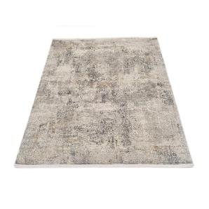 OCI DIE TEPPICHMARKE Teppich BESTSELLER CAVA, rechteckig, 8 mm Höhe, Glanz Viskose, mit Fransen, Wohnzimmer B/L: 200 cm x 290 cm, 1 St. grau Teppiche
