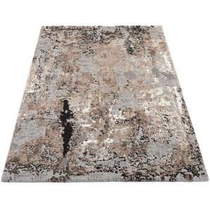 OCI DIE TEPPICHMARKE Teppich Juwel Liray, rechteckig, 20 mm Höhe, Kurzflor, Wohnzimmer B/L: 240 cm x 290 cm, 1 St. braun Esszimmerteppiche Teppiche nach Räumen