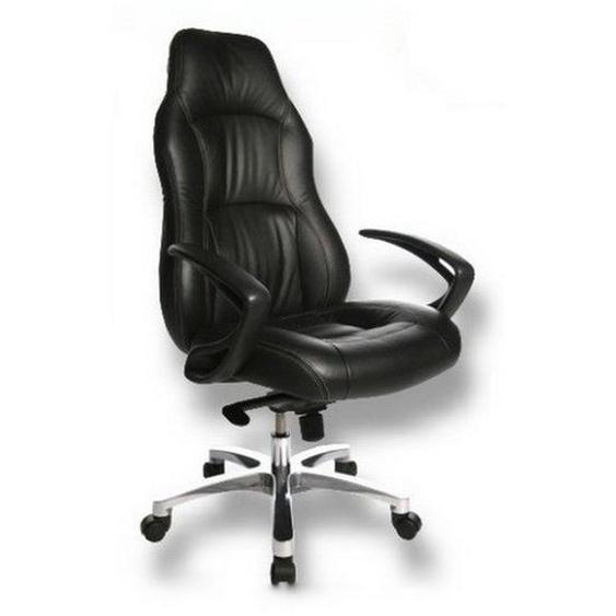 OFFICE RS1 - Luxus Chefsessel Schwarz Leder