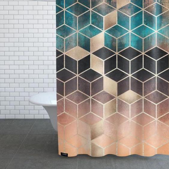 Ombre Dream Cubes - Duschvorhang