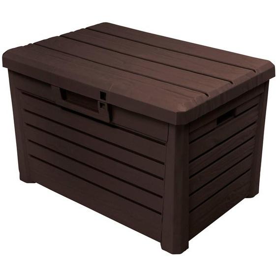 ONDIS24 Auflagenbox Florida Kompakt, 120 Liter, Kunststoff B/H/T: 73 cm x 46 50 braun Garten- Kissenboxen Gartenmöbel Gartendeko