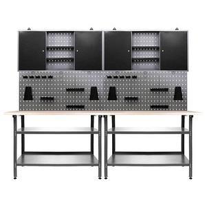 Ondis24 Nobbi Werkbank-Set grau 240,0 x 60,0 cm
