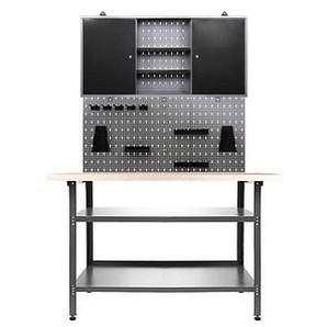 Ondis24 Werkbank-Set grau 120,0 x 60,0 cm