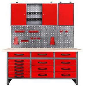 Ondis24 Werkbank-Set grau 170,0 x 60,0 cm