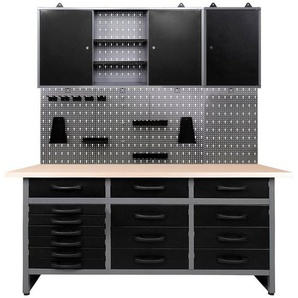 ONDIS24 Werkstatt-Set 170 cm, mit LED