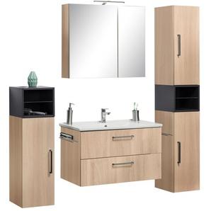 OPTIFIT Waschtisch-Set Napoli (Set, 10-tlg) 0, Einheitsgröße beige Bad-Sparsets Badmöbel Kastenmöbel-Sets