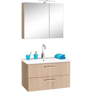 OPTIFIT Waschtisch-Set Napoli (Set, 2-tlg) 0, Einheitsgröße beige Bad-Sparsets Badmöbel Kastenmöbel-Sets