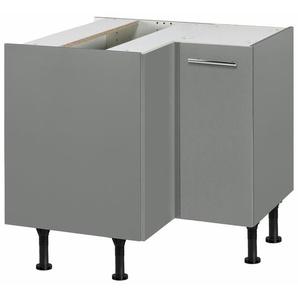 OPTIFIT Eckunterschrank »Bern« Breite 90x90 cm, mit 1 Tür mit höhenverstellbaren Füßen, mit Metallgriff