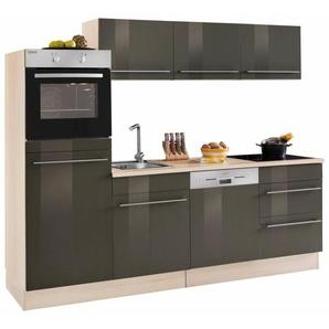 OPTIFIT Küchenzeile mit E-Geräten »Bern«, Breite 240 cm mit höhenverstellbaren Füßen