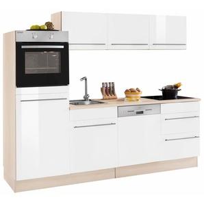 OPTIFIT Küchenzeile »Küchenzeile«, weiß, 28mm Arbeitsplatte, mit Schubkästen