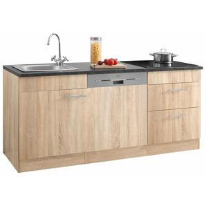 OPTIFIT Küchenzeile Mini, mit E-Geräten, Breite 180 cm, 28 mm starker Arbeitsplatte E (A bis G) B: cm beige Küchenzeilen -blöcke Küchenmöbel