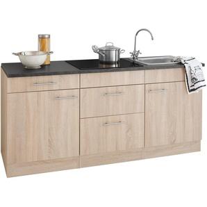 OPTIFIT Küchenzeile Mini, mit E-Geräten, Breite 180 cm B: beige Küchenzeilen -blöcke Küchenmöbel