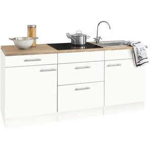 OPTIFIT Küchenzeile Mini, mit E-Geräten, Breite 180 cm B: weiß Küchenzeilen -blöcke Küchenmöbel