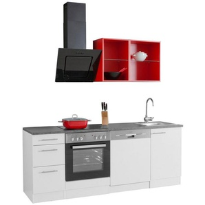 OPTIFIT Singleküche »Mini« inkl. E-Geräten, Breite 210 cm
