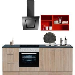 OPTIFIT Küchenzeile Mini, ohne E-Geräte, Breite 210 cm B: rot Küchenzeilen -blöcke Küchenmöbel