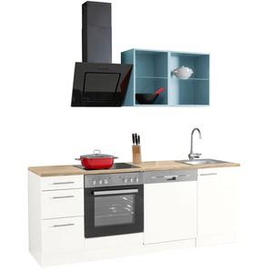 OPTIFIT Küchenzeile Mini, ohne E-Geräte, Breite 210 cm B: weiß Küchenzeilen -blöcke Küchenmöbel