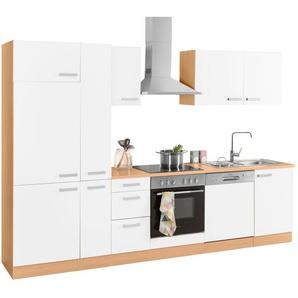 OPTIFIT Küchenzeile »Odense«, mit Hanseatic E-Geräten, Breite 300 cm mit 28 mm starker Arbeitsplatte