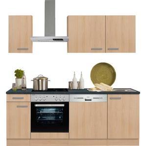 OPTIFIT Küchenzeile mit E-Geräten »Odense« , Breite 210 cm mit 28 mm starker Arbeitsplatte