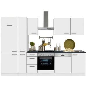 OPTIFIT Küchenzeile »Odense«, ohne E-Geräte, Breite 300 cm mit 28 mm starker Arbeitsplatte, mit Gratis Besteckeinsatz