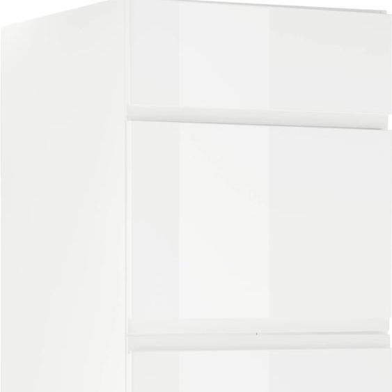OPTIFIT Kühlumbauschrank Avio, für Kühl-/Gefrierkombination, mit Soft-Close-Funktion, hochwertigen Hochglanz-Fronten und höhenverstellbaren Füßen, Breite 60 cm B/H/T: x 211,8 58,4 cm, 2 weiß Umbauschränke Küchenschränke Küchenmöbel