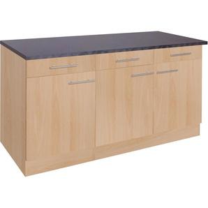 OPTIFIT Unterschrank Tula 0, 150 x 84,8 60 (B H T) cm, 3-türig beige Unterschränke Küchenschränke Küchenmöbel Schränke