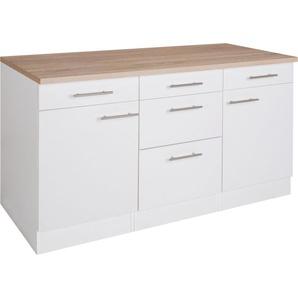 OPTIFIT Unterschrank Tula 0, 150 x 84,8 60 (B H T) cm, 2-türig weiß Unterschränke Küchenschränke Küchenmöbel Schränke