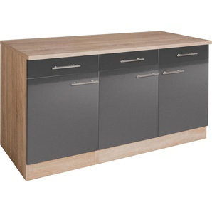 OPTIFIT Unterschrank Tula 0, 150 x 84,8 60 (B H T) cm, 3-türig grau Unterschränke Küchenschränke Küchenmöbel Schränke