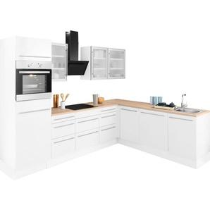 OPTIFIT Winkelküche »Bern«, mit E-Geräten, Stellbreite 285 x 225 cm