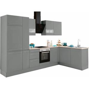 OPTIFIT Winkelküche mit E-Geräten »Bern«, weiß, mit Schubkästen