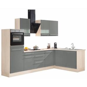 OPTIFIT Winkelküche »Bern«, ohne E-Geräte, Stellbreite 285 x 175 cm, mit höhenverstellbaren Füßen, gedämpfte Türen und Schubkästen, Metallgriffe