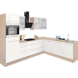 OPTIFIT Winkelküche »Bern«, ohne E-Geräte, Stellbreite 285 x 225 cm, mit höhenverstellbaren Füßen, gedämpfte Türen und Schubkästen, Metallgriffe