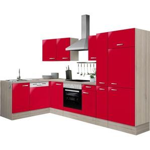 OPTIFIT Winkelküche »Faro«, mit E-Geräten, Stellbreite 300 x 175 cm