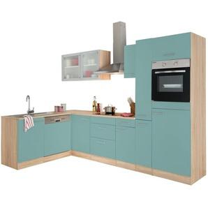 OPTIFIT Winkelküche »Kalmar« mit E-Geräten, Stellbreite 300x175 cm