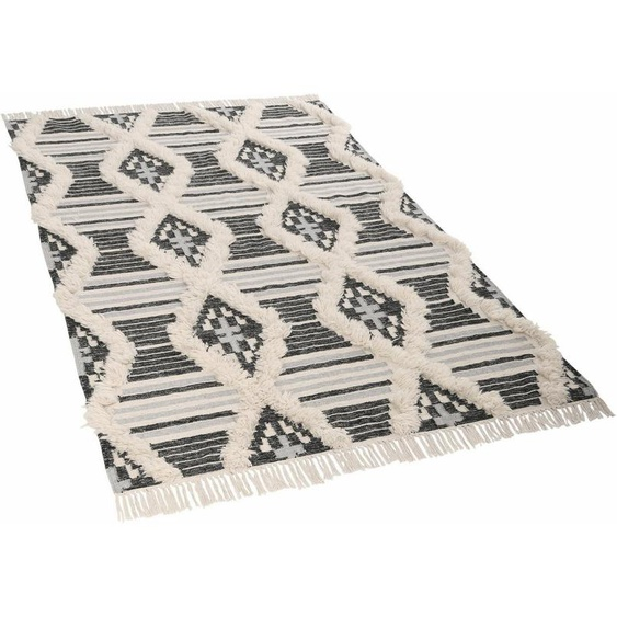 Teppich »Cozy Kelim«, TOM TAILOR, rechteckig, Höhe 5 mm, Bohostyle, handgewebt, mit Fransen, Wohnzimmer