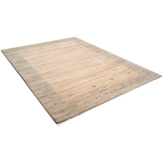 Wollteppich »Lori Dream 1«, THEKO, rechteckig, Höhe 17 mm, reine Wolle, handgeknüpft, mit Bordüre, Wohnzimmer