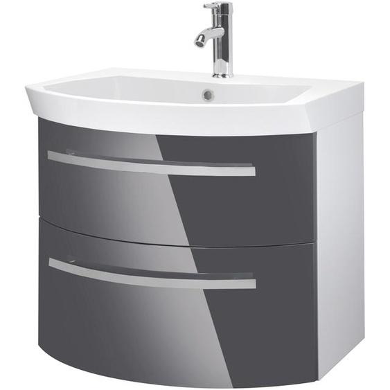 Oristo Waschtisch Flow, Breite 65 cm x 61.5 grau Waschtische Badmöbel
