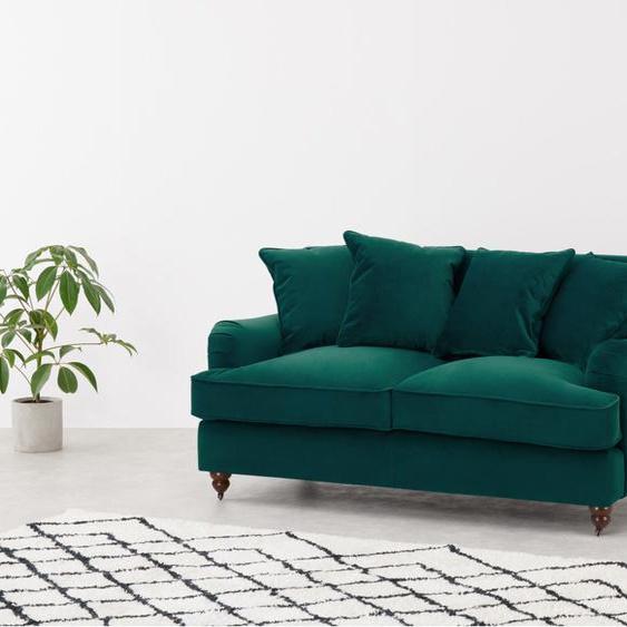Orson 2-Sitzer Sofa, Samt in Meerblau