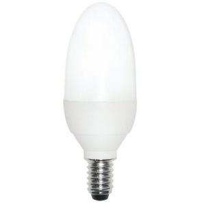 Osram 63154B1 Dulux Superstar Classic B, E14 Energiesparlampe in Kerzenform 9W/827, warmweiß