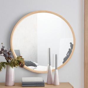 OTTO products Dekospiegel Sverre Ø 64 cm beige Spiegel Kleinmöbel Nachhaltige Möbel