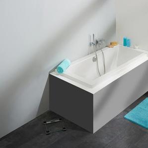 OTTOFOND Badewanne Cubic, mit Wannenträger und Ablaufgarnitur Einheitsgröße weiß Badewannen Whirlpools Bad Sanitär