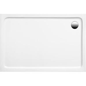 Ottofond Duschwanne Aruba Rechteck extraflach Weiß 140 cm x 80 cm