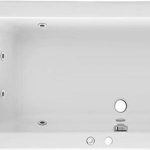 OTTOFOND Whirlpool-Badewanne Cubic, Typ 1, chrom Einheitsgröße weiß Badewannen Whirlpools Bad Sanitär