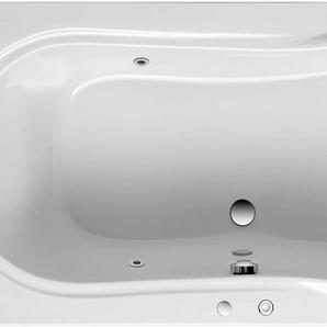 OTTOFOND Whirlpool-Badewanne Palma, Typ 1, chrom Einheitsgröße weiß Badewannen Whirlpools Bad Sanitär