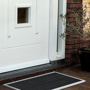 Outdoor-Fußmatte Urban RiZZ silber, Designer Teun Fleskens, 2.2x87x44 cm