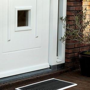 Outdoor-Fußmatte Urban RiZZ weiß, Designer Teun Fleskens, 2.2x58x36 cm