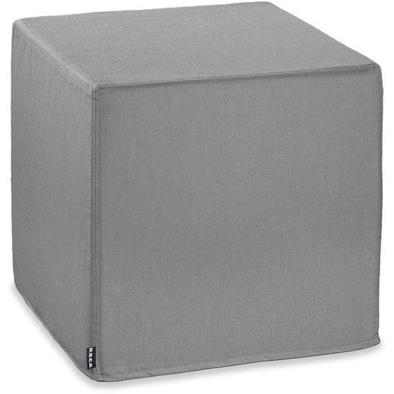 Outdoor-Hocker, Caribe 1x 45x45 cm, Polyacryl, 45 cm grau Sitzkissen Sitzwürfel Hocker Kopfkissen