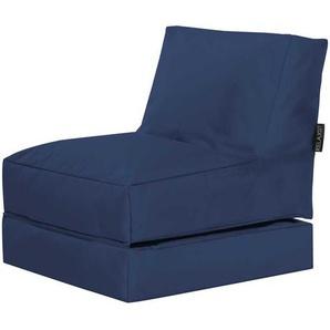 Outdoor Sitzsack in Blau Liege