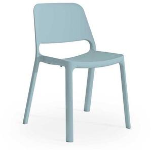 Outdoor Stuhl in Hellblau Kunststoff